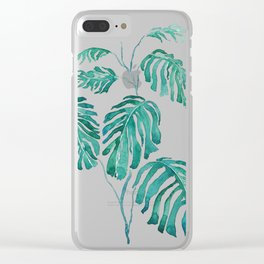 Monstera painting 2017 Clear iPhone Case
