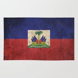 Old and Worn Distressed Vintage Flag of Haiti Rug