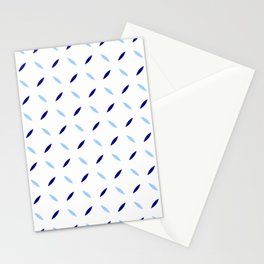 four lines 31 blue Stationery Cards