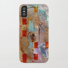 abstract in beige Slim Case iPhone X