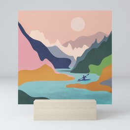 River Canyon Kayaking Mini Art Print