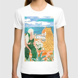 The Italian View #painting #illustration T-shirt