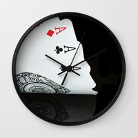 ace Wall Clocks featuring ACE!!!! by Brian Raggatt