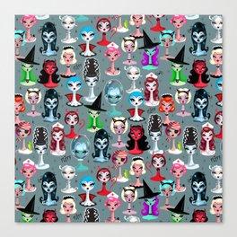 Spooky Dolls Canvas Print