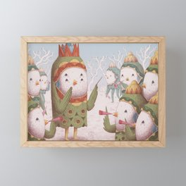 Trumpet Bird Orchestra Framed Mini Art Print