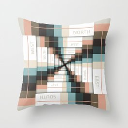 Layers of Directions Throw Pillow