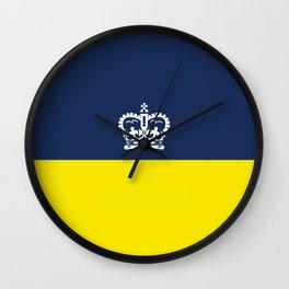 flag of Regina city,Saskatchewan,Canada Wall Clock