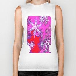 Taffy Pink-Purple-Red  Snowflakes Holiday Design  Biker Tank