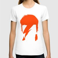 bowie T-shirts featuring BOWIE by eve orea
