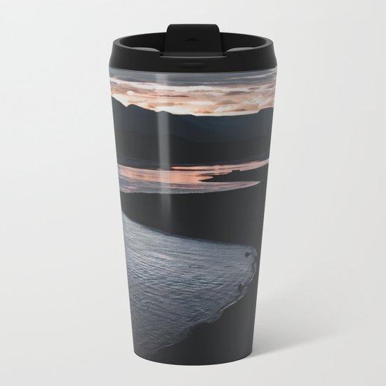 Sunrise in Iceland Metal Travel Mug