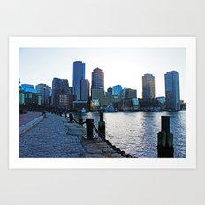 Harborwalk  Art Print