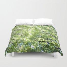 Green Maples Duvet Cover