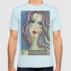 Freedom (2) Light Blue SMALL Mens Fitted Tee