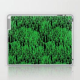 Cascading Wisteria in Green + Black Laptop & iPad Skin