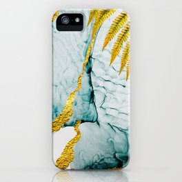 Clouds on the sky Abstract luxurious beauty.  Art and Gold Home decor illustration iPhone Case