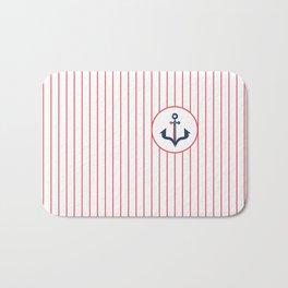 Maritime Stripes Anchor #maritime #anchor #artdeco #minimal #art #design #kirovair #buyart #decor #h Bath Mat