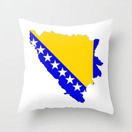 bosnia herzegovina flag map Throw Pillow