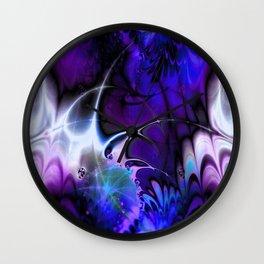 Psychedelic Waves (violet-indigo) Wall Clock
