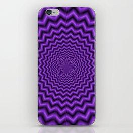 Crinkle Cut in Purple iPhone Skin