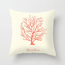 AFE Branch Coral, Living Coral Throw Pillow