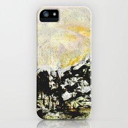 Golden mountains iPhone Case