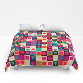 Geometric pattern with shapes Comforters