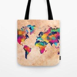 world map watercolor 5 Tote Bag