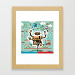 And on the Seventh Day, R.O.B. Rested Framed Art Print