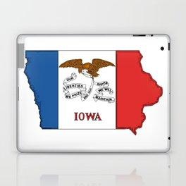 Iowa Map with Iowan Flag Laptop & iPad Skin