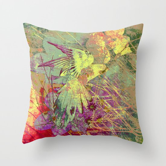 Parrot. On Front Page. Throw Pillow