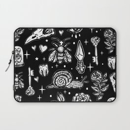 Full Of Secrets Witchy Goth Punk Pattern Laptop Sleeve