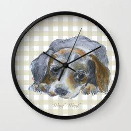 Woof-woof Wall Clock