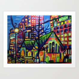 Where Old Meets New Art Print
