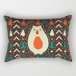 Bear, dots and Christmas trees Rectangular Pillow