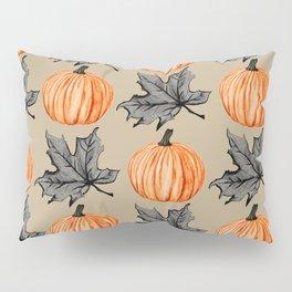 Pumpkin in the Fall Leaf Pillow Sham