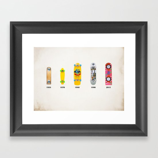Evolution of skate deck Framed Art Print