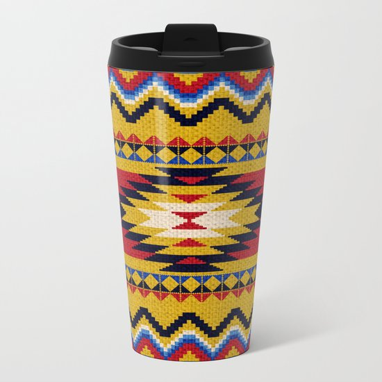 Aztec pattern Metal Travel Mug