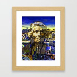Ghost Tribe Native Americans in New York Yellow Framed Art Print
