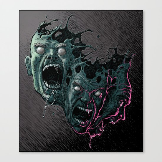 Cathartic Chaos (color) Canvas Print