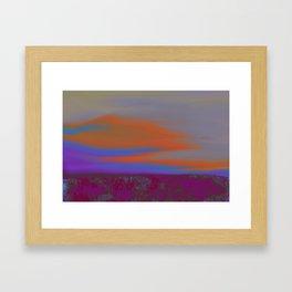 """Twilight Meadow"" (Magenta/Orange) Digital Painting // Fine Art Print Framed Art Print"