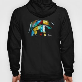 Stained Glass Elephant Gift Hoody