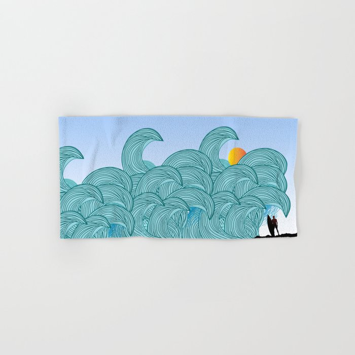 surfing 3 Hand & Bath Towel