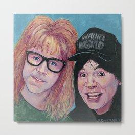 Wayne & Garth Metal Print