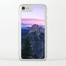 The Mountains and Purple Clouds Clear iPhone Case