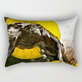 Crow Flying at Night Rectangular Pillow