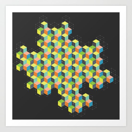Island of Cubes Art Print
