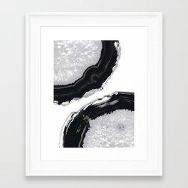 Gray Black Agate #2 #gem #decor #art #society6 Framed Art Print