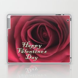 Valentine Scarlet Red Rose Elegance Laptop & iPad Skin