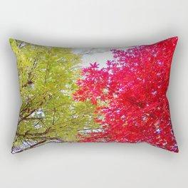 Competing Fall Trees Rectangular Pillow