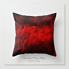 Dark Red Throw Pillow Art Print 3.0 #postmodernism #society6 #art Canvas Print